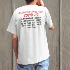 CHANCES OF DYING OF COVID - CDC STATISTIC PLANDEMIC T-SHIRT
